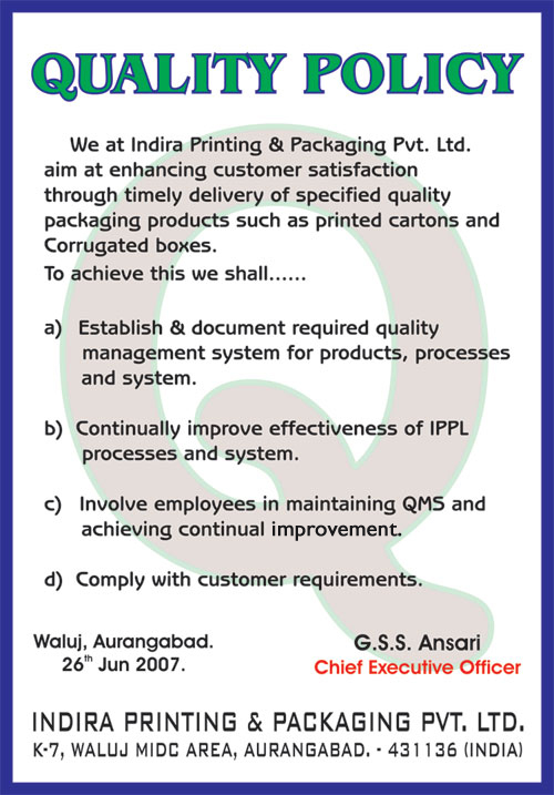 Indira printing packaging pvt ltd our main objective is to exceed the expectation of our clients in terms of quality standards and services to achieve this our unit is certified with iso thecheapjerseys Gallery